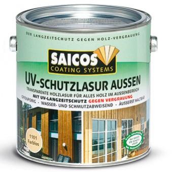 Защитная лазурь Saicos UV-Schutzlasur Aussen (2.5 л)